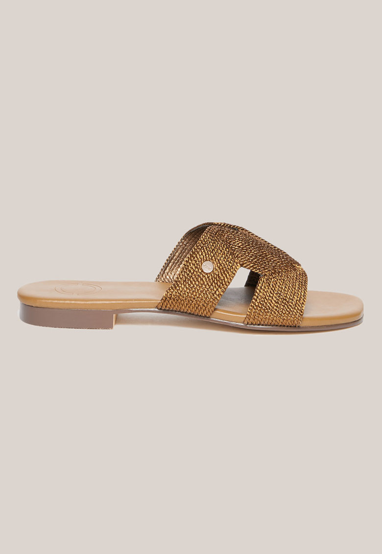 Papuci cu aspect tesut imagine fashiondays.ro Oltre