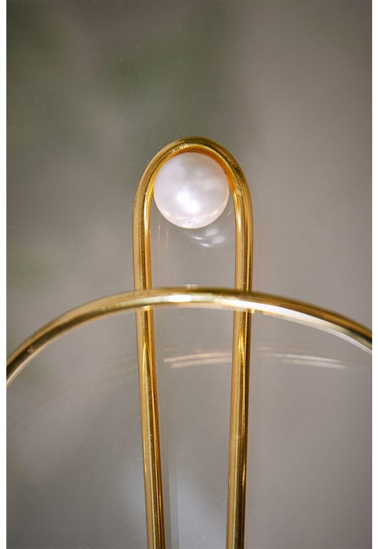 Agrafa de par placata cu aur de 24K - cu perle sintetica imagine fashiondays.ro CONCEPTO