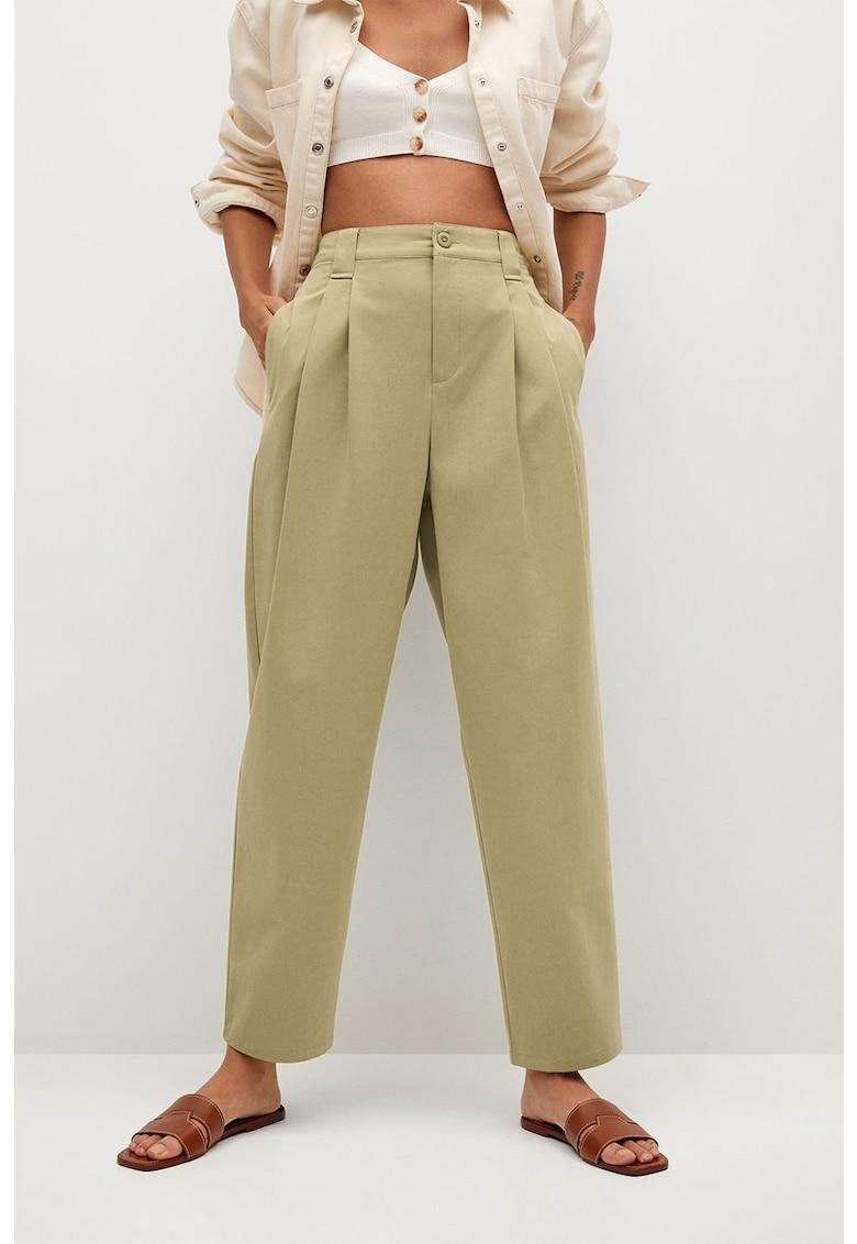 Pantaloni conici cu pliuri Mint