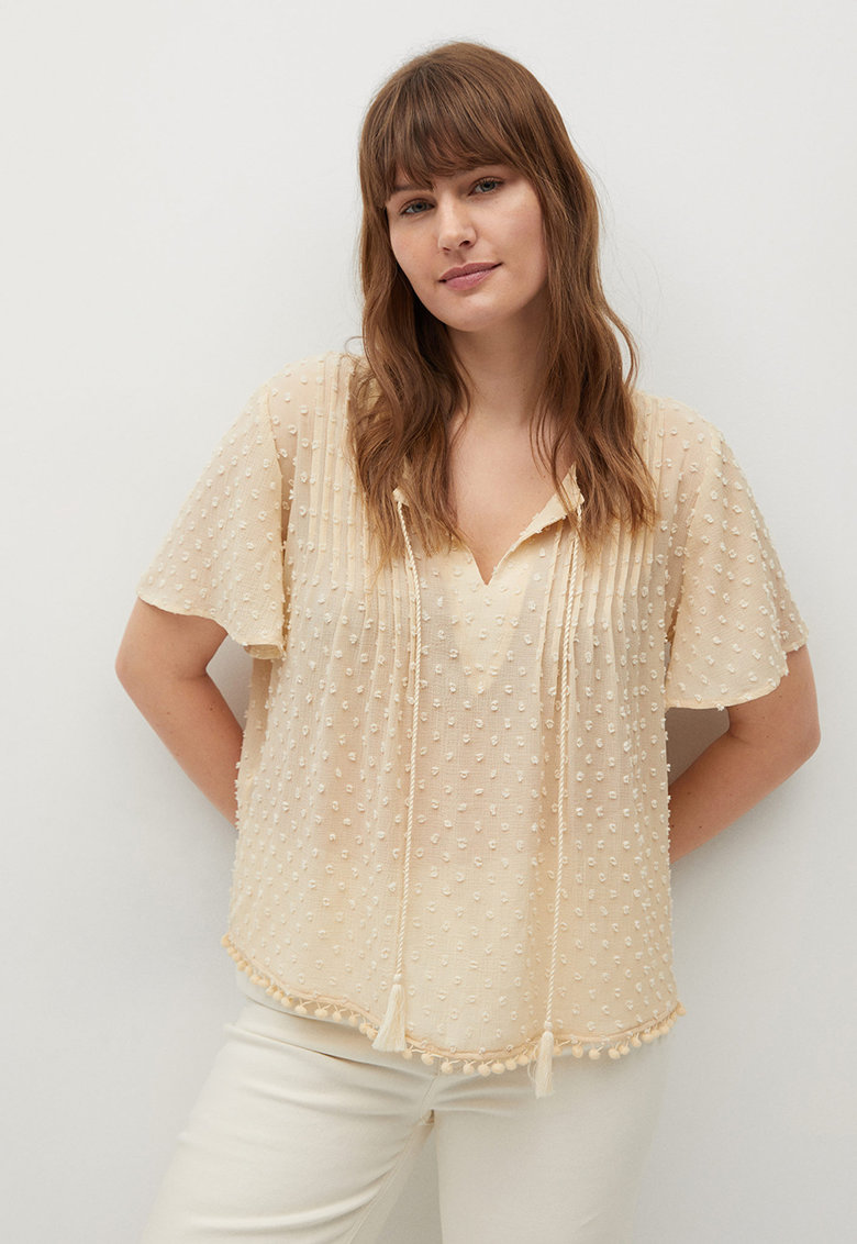 Bluza cu decolteu in V Bolitas imagine fashiondays.ro VIOLETA BY MANGO