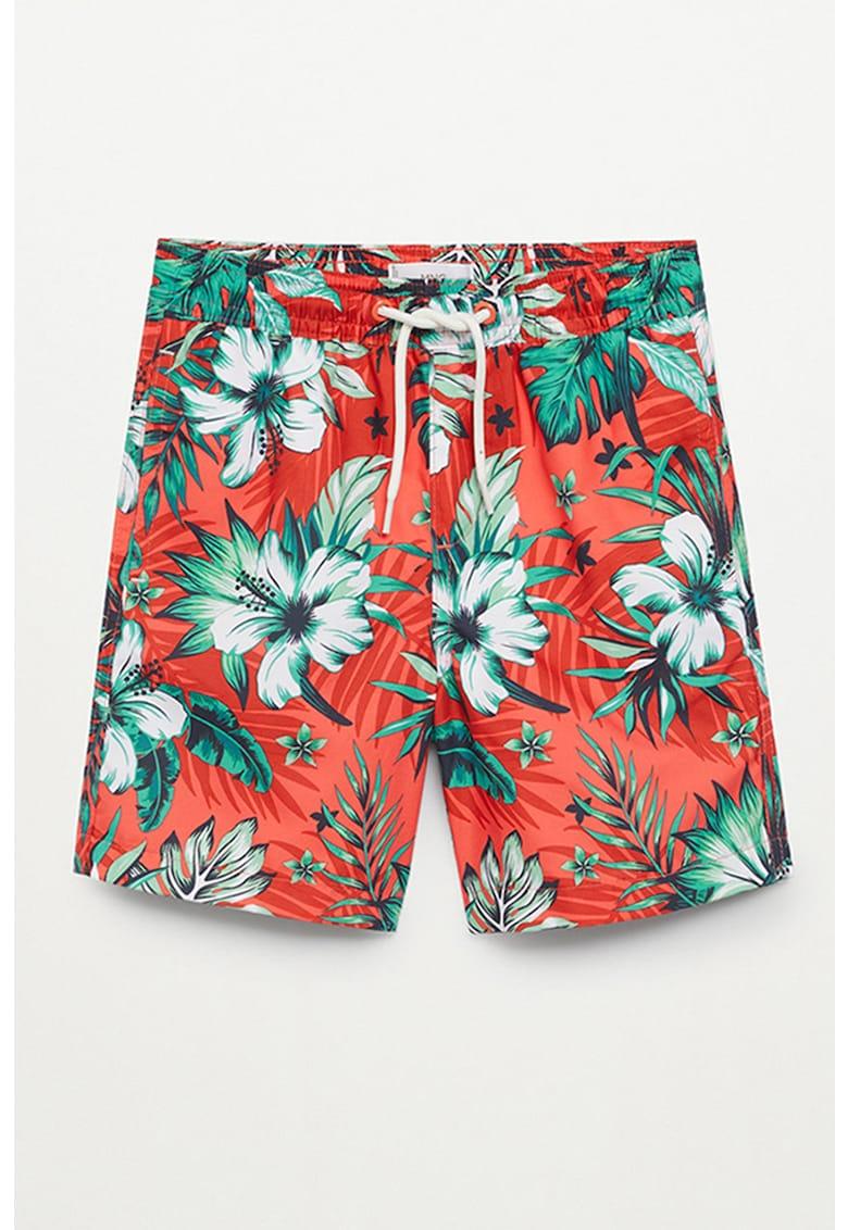 Bermude de baie cu imprimeu tropical Lukas imagine fashiondays.ro Mango