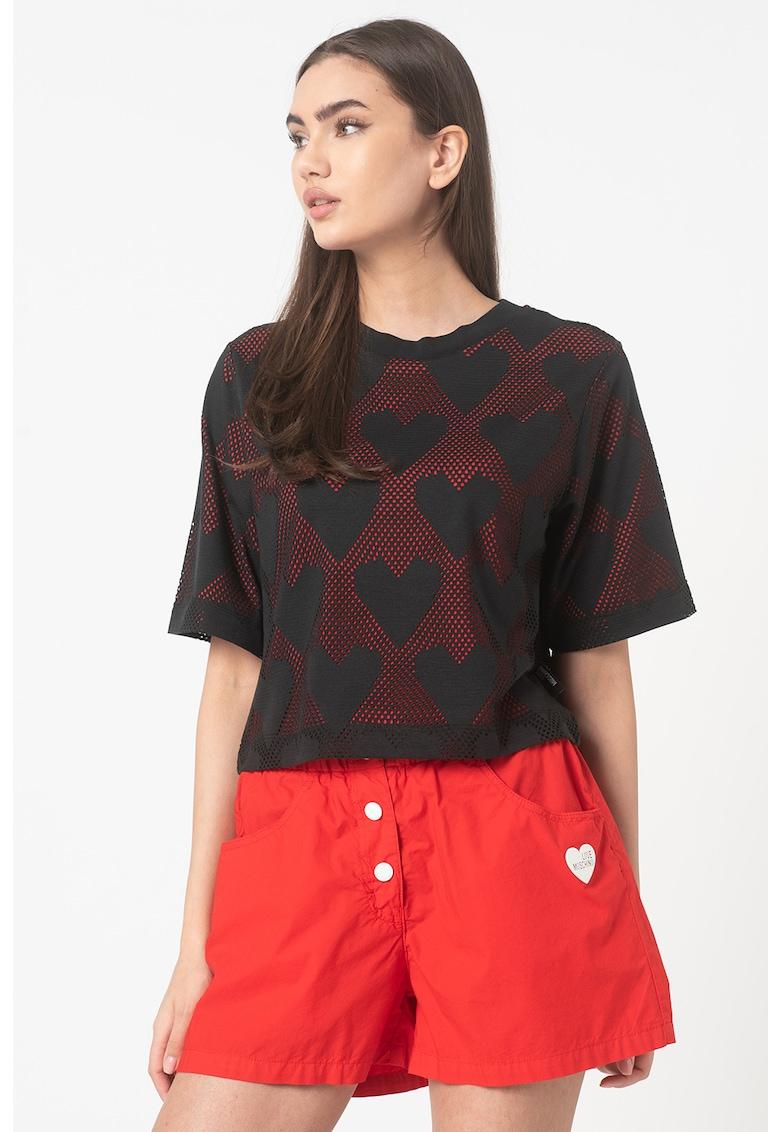 Tricou de plasa cu model cu inimi