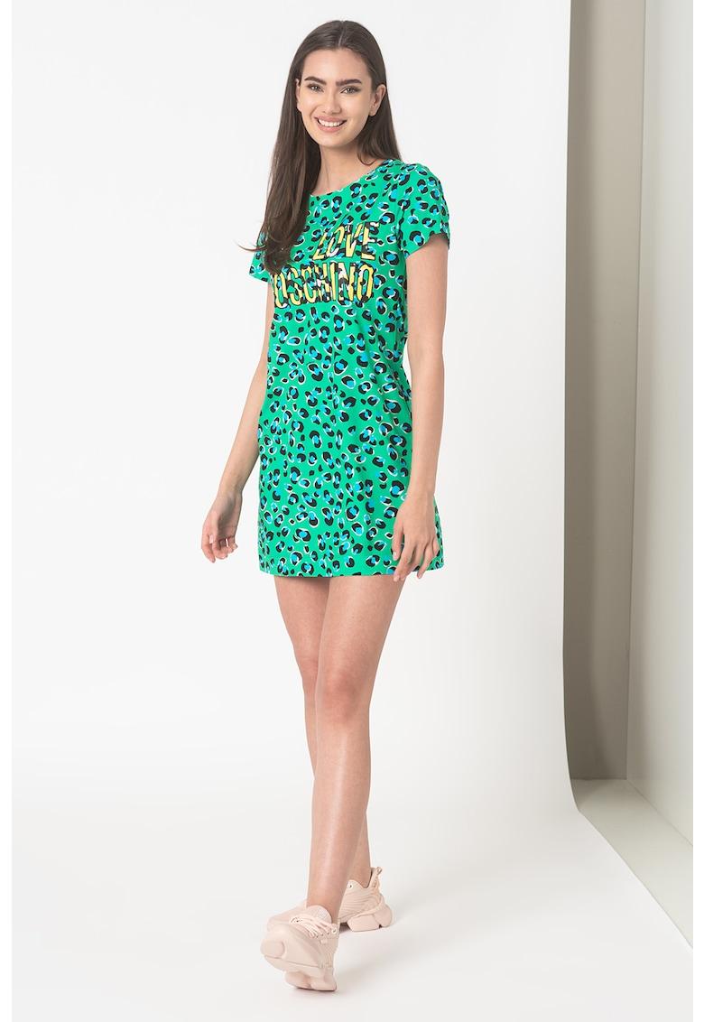 Rochie-tricou mini cu imprimeu