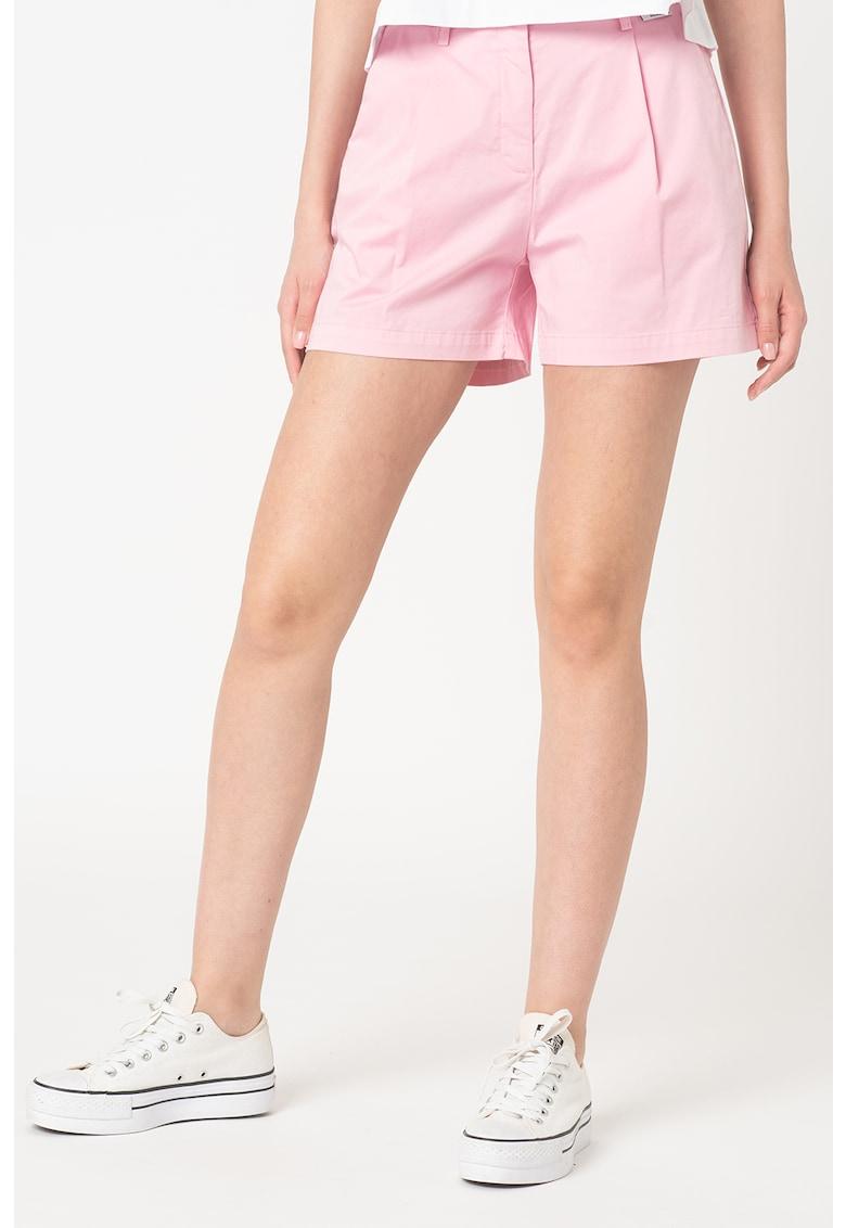 Pantaloni scurti cu talie inalta