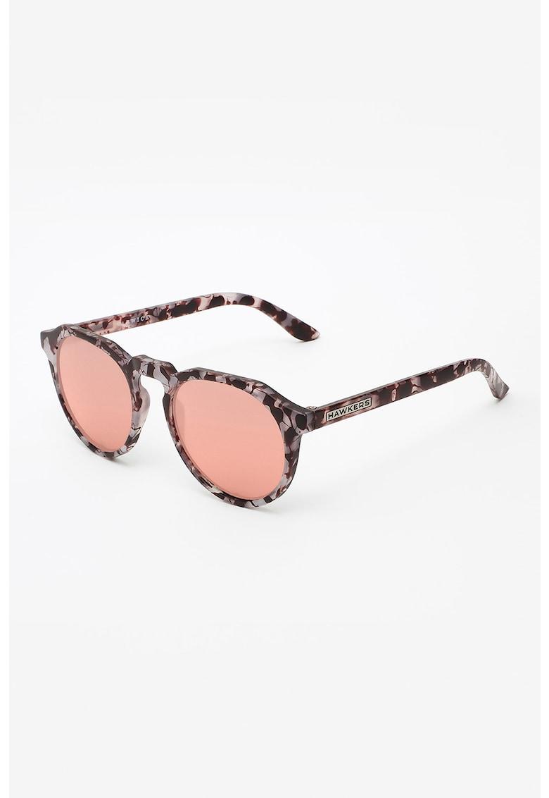 Ochelari de soare rotunzi unisex cu lentile oglinda imagine fashiondays.ro Hawkers
