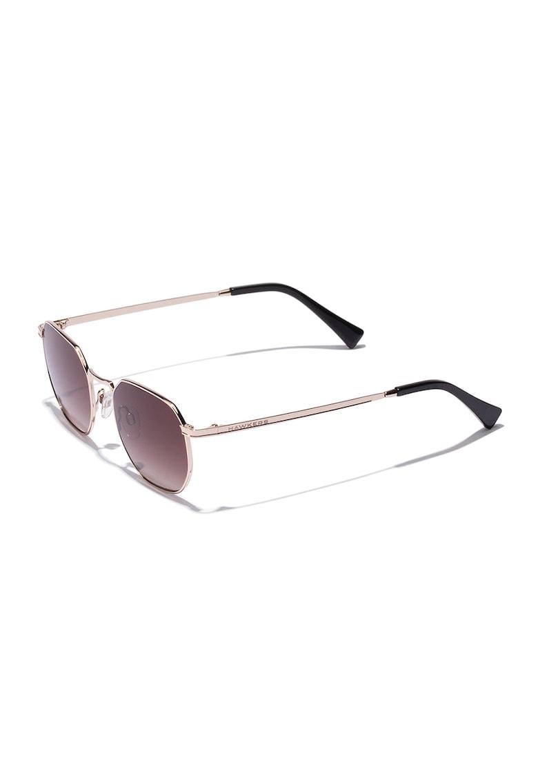Ochelari de soare hexagonali unisex imagine fashiondays.ro Hawkers
