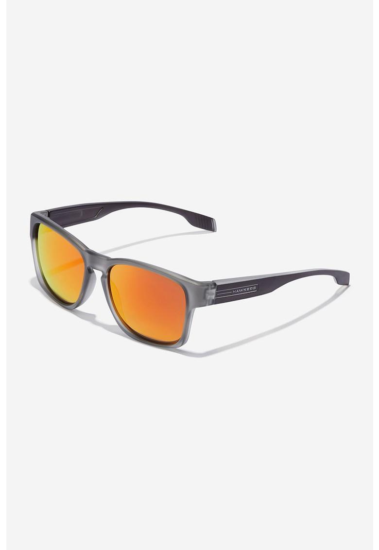 Ochelari de soare dreptunghiulari unisex cu lentile polarizate Core imagine fashiondays.ro Hawkers