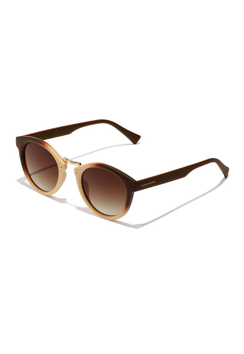 Ochelari de soare rotunzi unisex imagine fashiondays.ro Hawkers