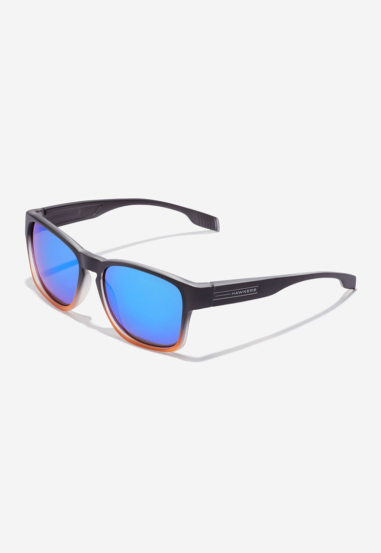 Ochelari de soare dreptunghiulari unisex cu lentile oglinda Core imagine fashiondays.ro Hawkers