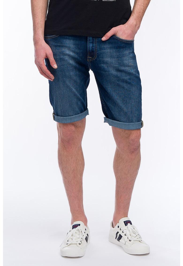 KVL - Pantaloni scurti drepti din denim imagine fashiondays.ro 2021