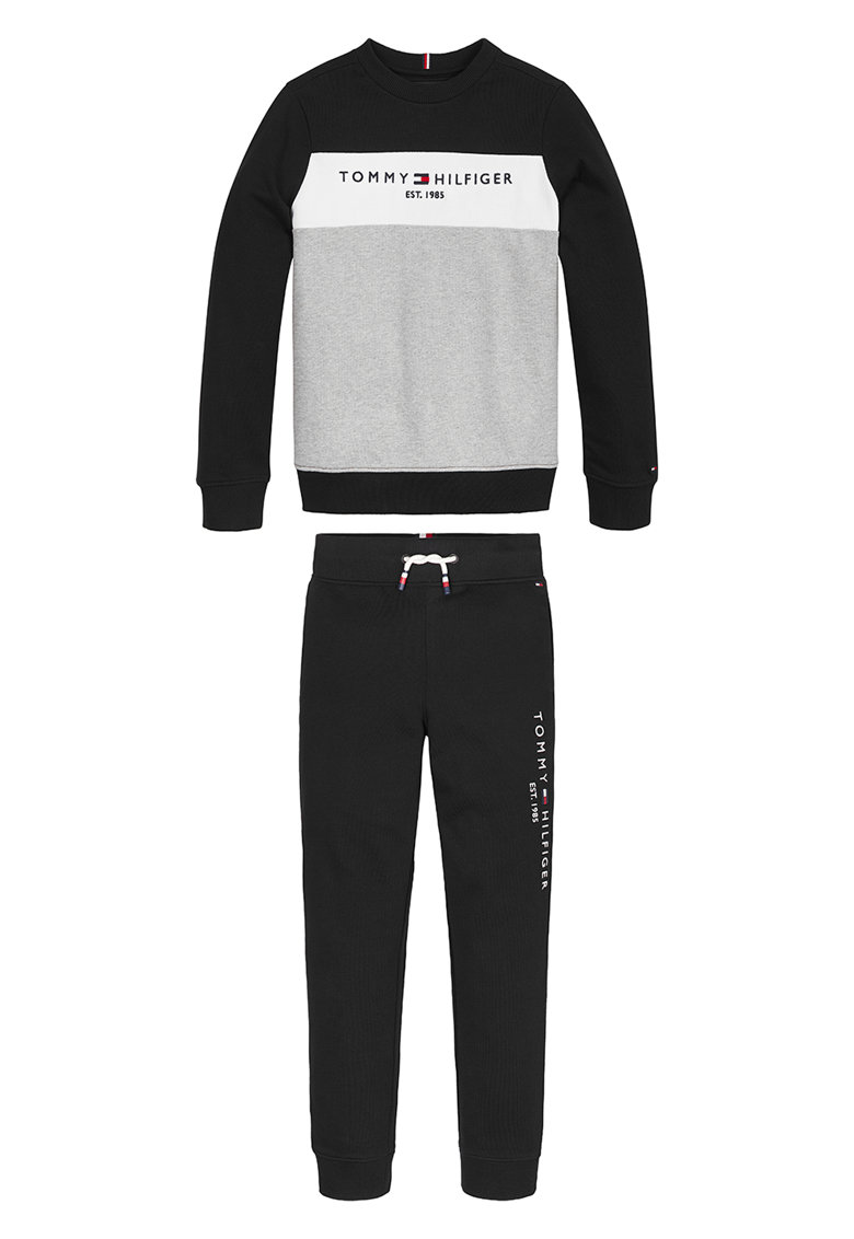 Bluza sport cu model colorblock si logo imagine fashiondays.ro Tommy Hilfiger
