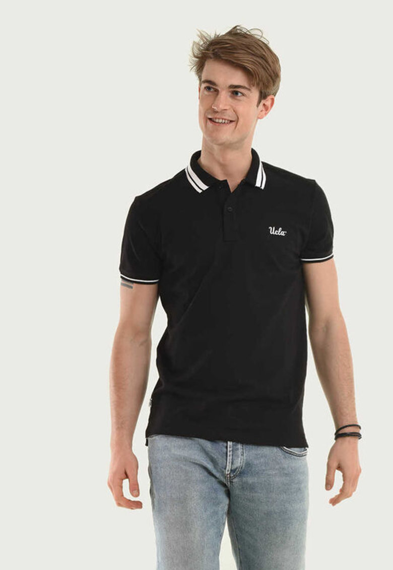 Tricou polo regular fit din material pique Hammer