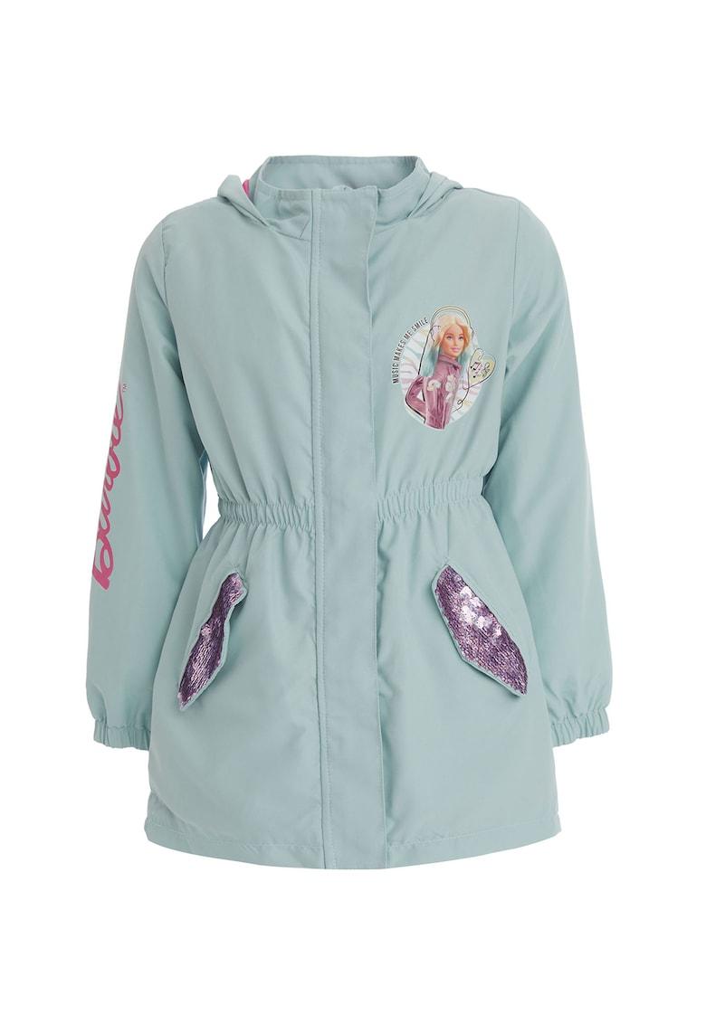 Jacheta cu gluga - talie elastica si aplicatii cu paiete