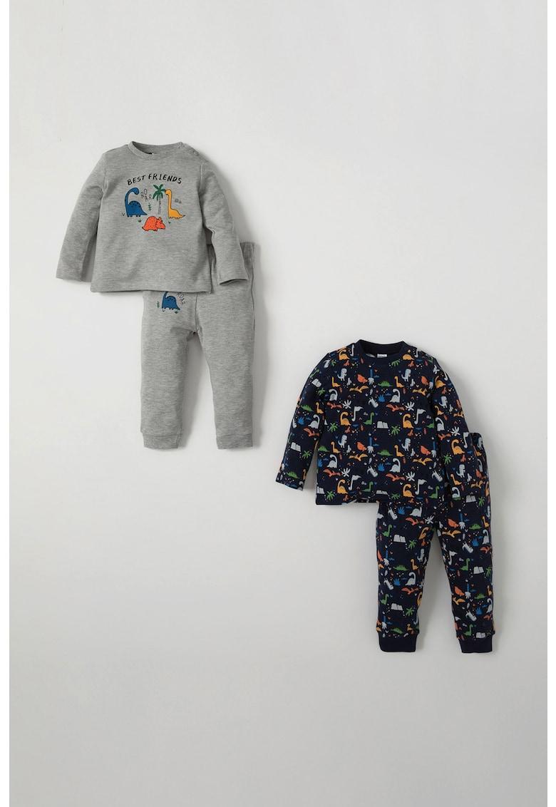 Set de pijamale din bumbac - 2 perechi imagine fashiondays.ro 2021