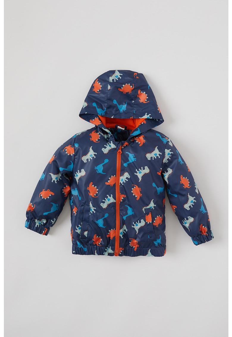 Jacheta cu gluga si dinozauri imagine fashiondays.ro 2021