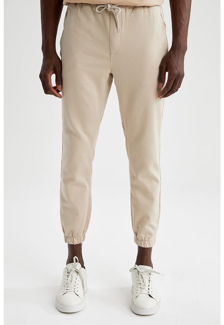 DeFacto Pantaloni jogger cu croiala conica si talie ajustabila