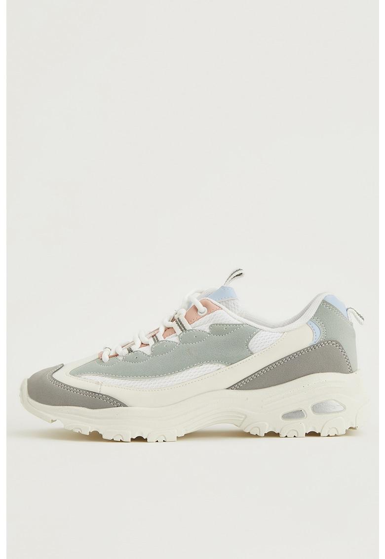 Pantofi sport de piele ecologica cu garnituri contrastante imagine fashiondays.ro 2021