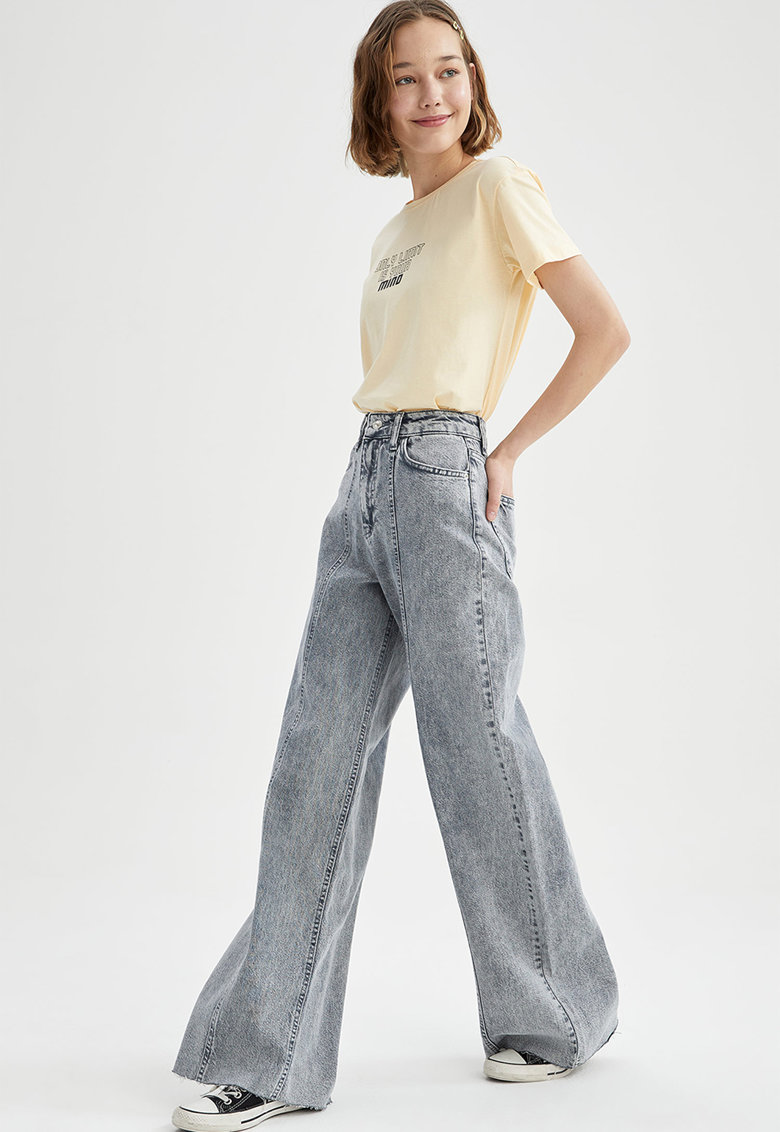 Blugi cu croiala ampla imagine fashiondays.ro 2021