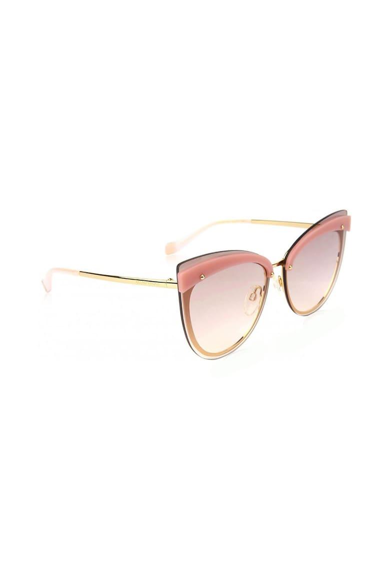 Ochelari de soare cat-eye cu brate metalice imagine fashiondays.ro Ana Hickmann