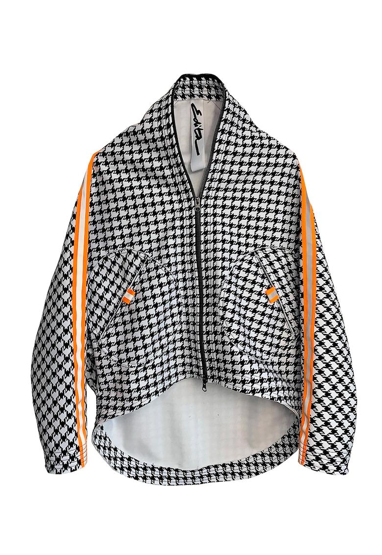 Jacheta asimetrica cu maneci cazute imagine fashiondays.ro Edita Lupea