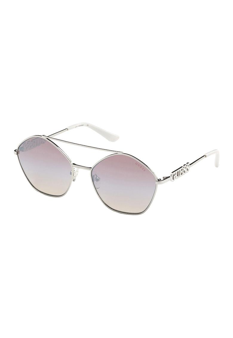 Ochelari de soare rotunzi polarizati cu logo imagine fashiondays.ro Guess