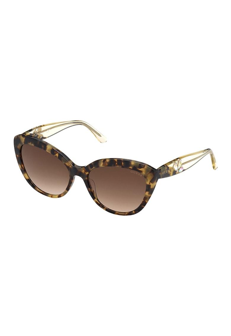 Ochelari de soare cat-eye cu strasuri imagine fashiondays.ro Guess