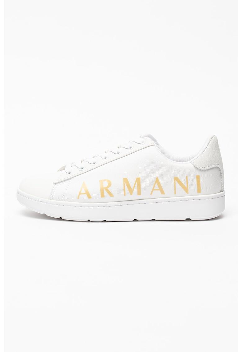 Pantofi sport de piele cu garnituri din material textil imagine fashiondays.ro 2021