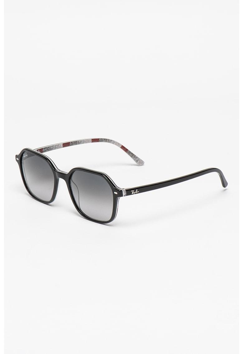 Ochelari de soare unisex dreptunghiulari cu lentile in degrade imagine fashiondays.ro Ray-Ban