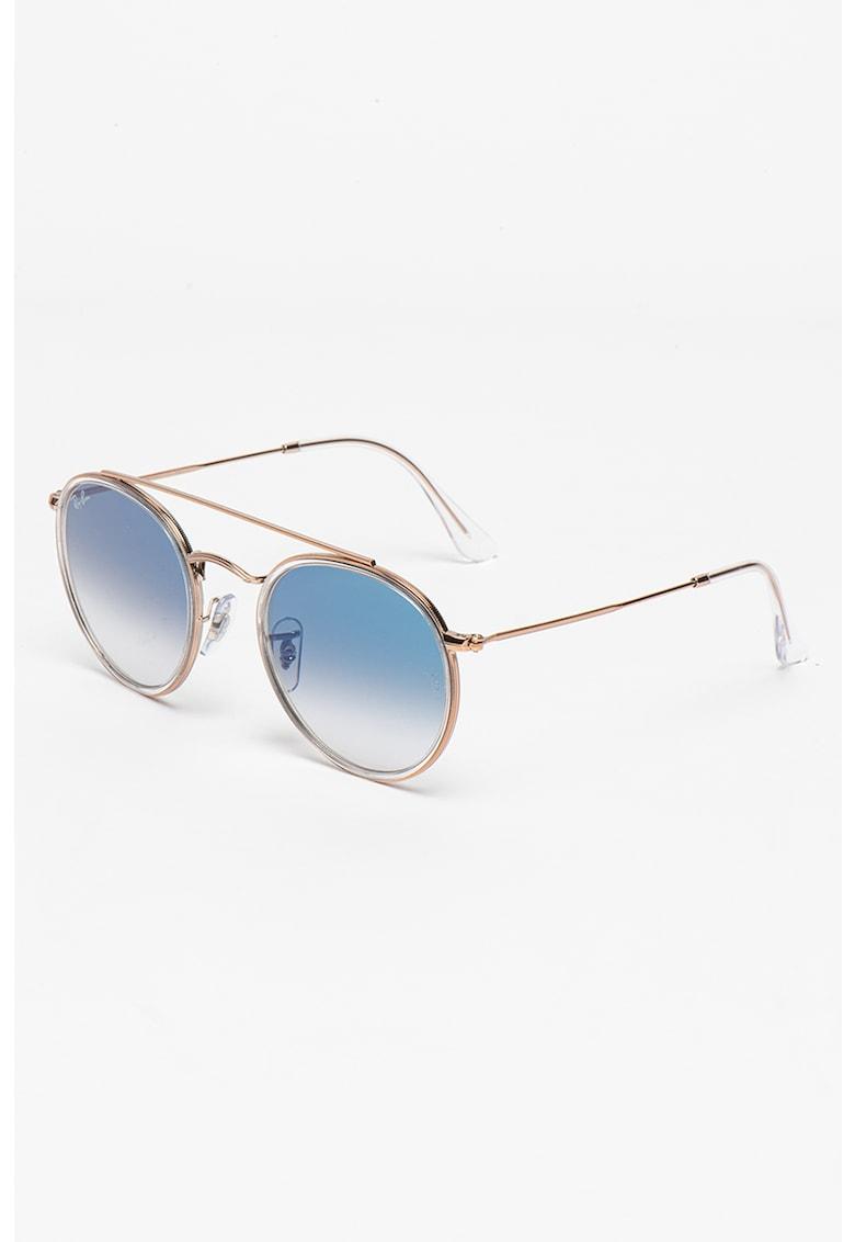 Ochelari de soare unisex rotunzi cu punte nazala dubla imagine fashiondays.ro Ray-Ban