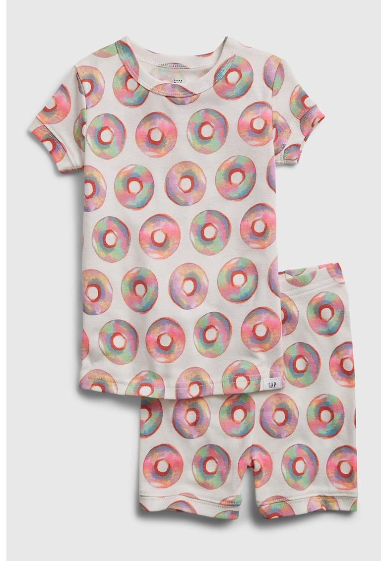 Pijama cu pantaloni scurti si imprimeu