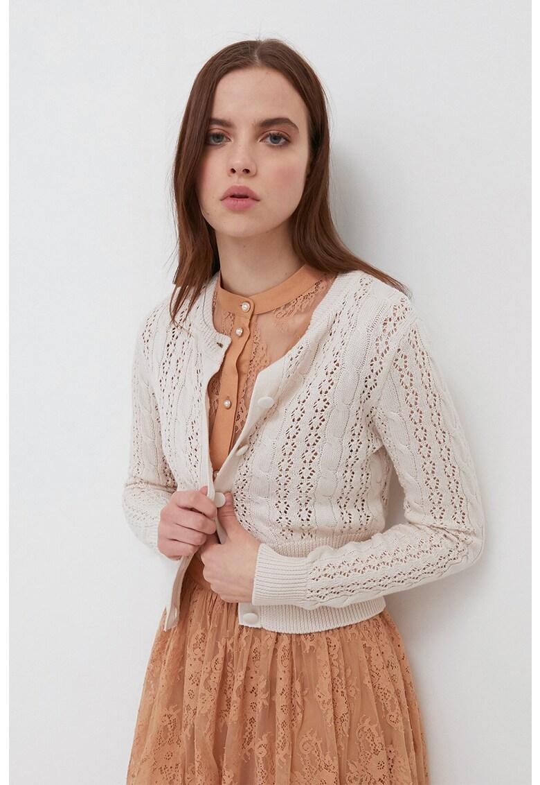 Cardigan cu model pointelle imagine fashiondays.ro 2021