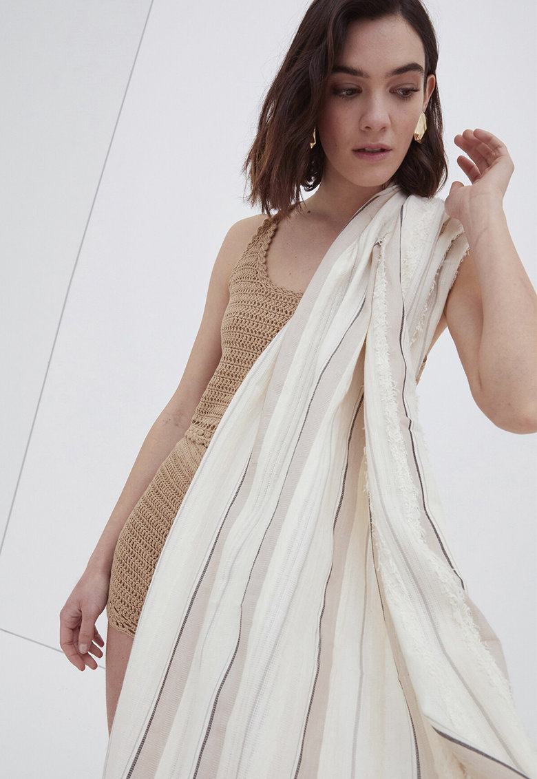 Esarfa vaporoasa in dungi imagine fashiondays.ro 2021