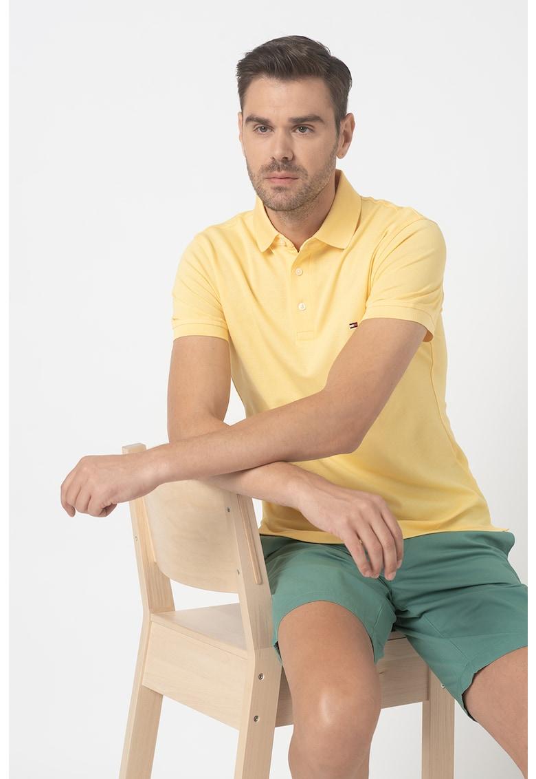 Tricou polo slim fit imagine fashiondays.ro Tommy Hilfiger