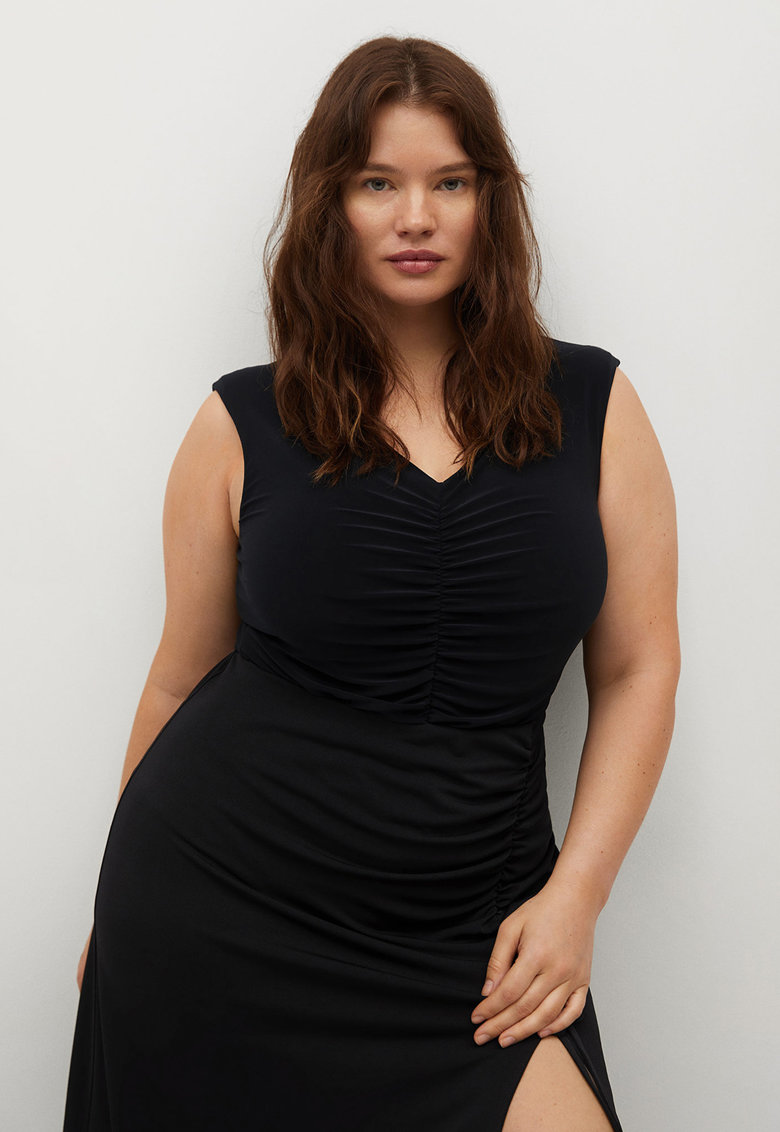 Body cu aspect plisat Joana imagine fashiondays.ro VIOLETA BY MANGO