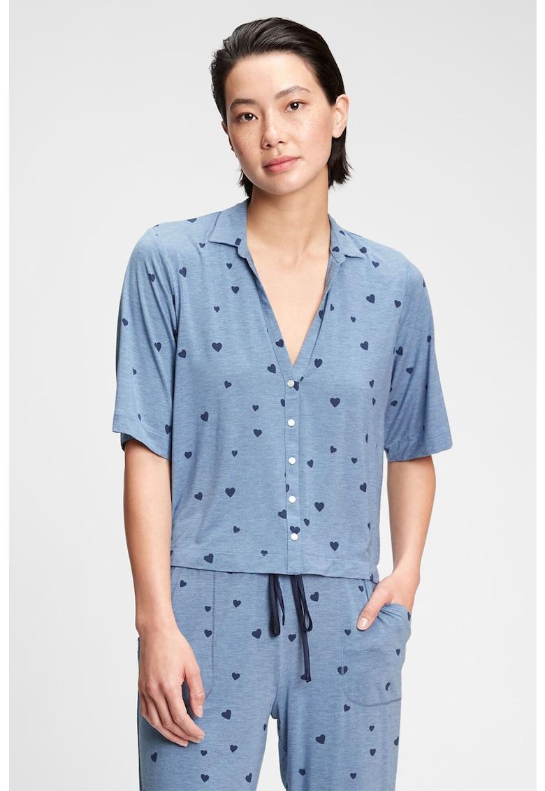 Bluza de pijama din amestec de modal imagine fashiondays.ro GAP