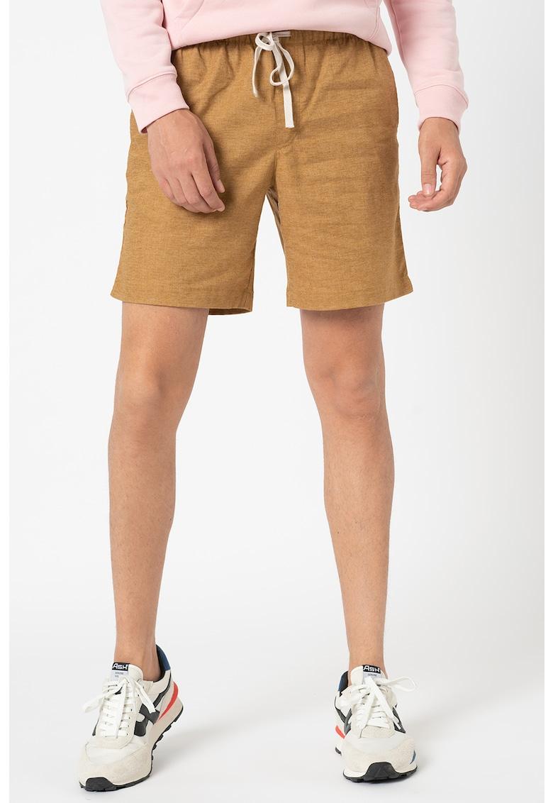 Pantaloni scurti din amestec de in cu snur de ajustare in talie