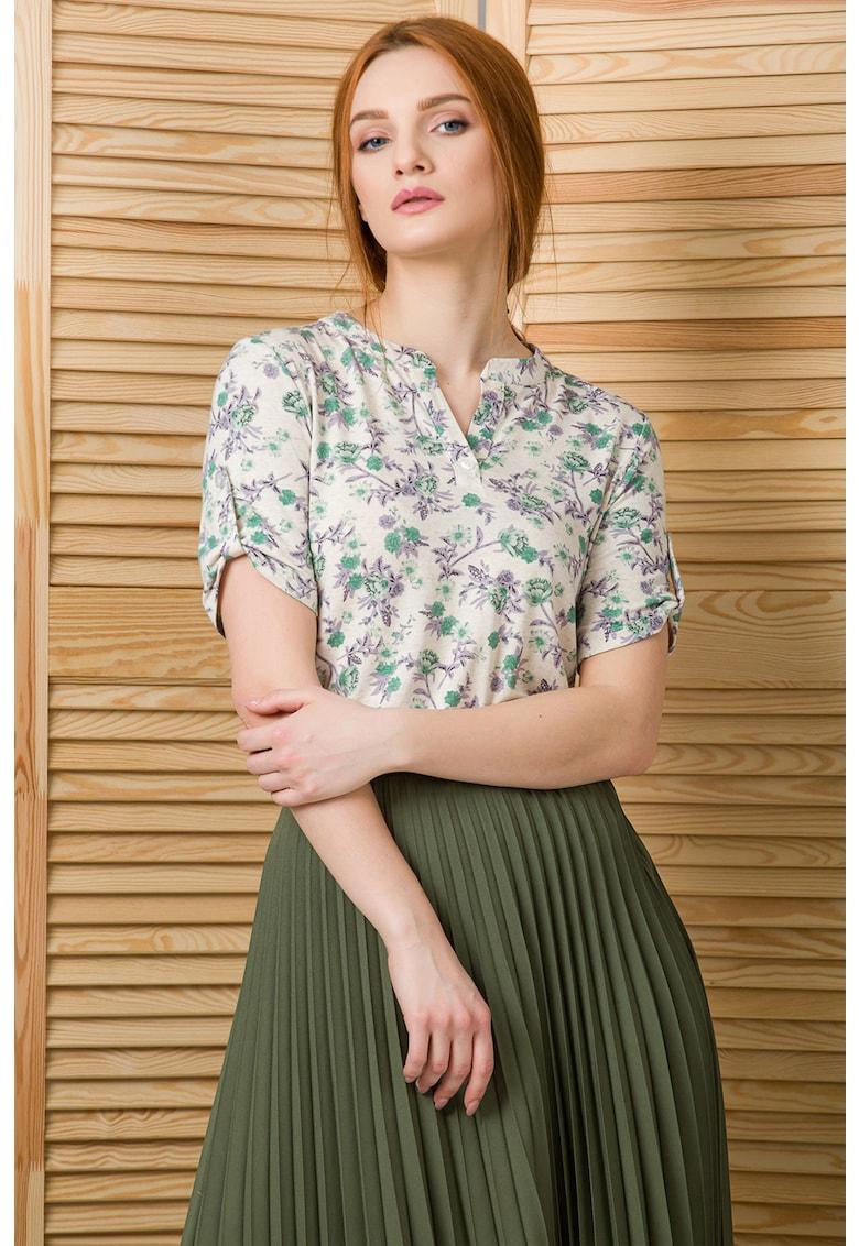 Bluza tip tunica din amestec de in Dorry imagine fashiondays.ro 2021