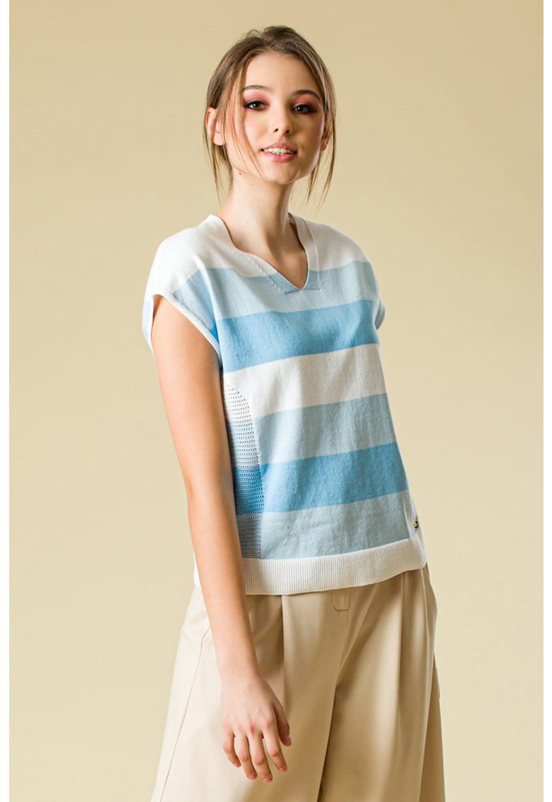 Bluza tricotata fin cu maneci scurte imagine fashiondays.ro 2021
