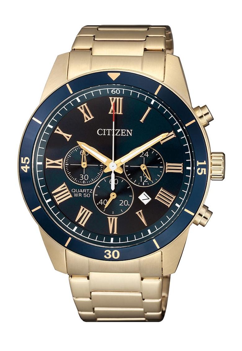 Citizen Ceas cronograf cu o bratara metalica