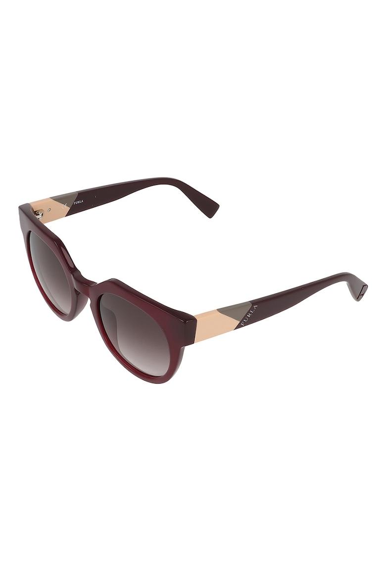 Ochelari de soare rotunzi cu rama cu model colorblock imagine fashiondays.ro Furla