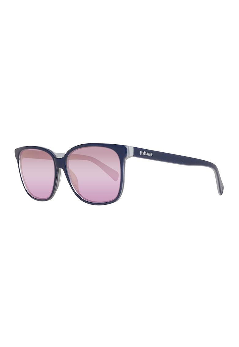 Ochelari de soare patrati cu lentile oglinda imagine fashiondays.ro JUST CAVALLI