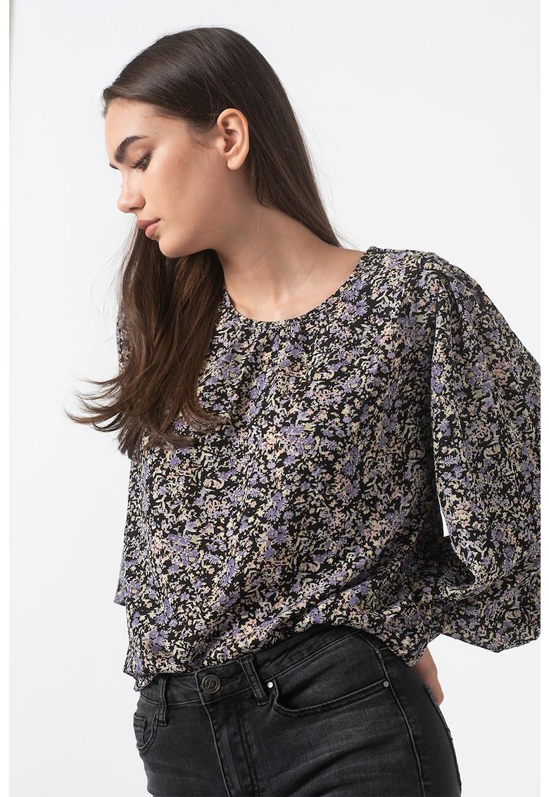Bluza cu model floral abstract Visra