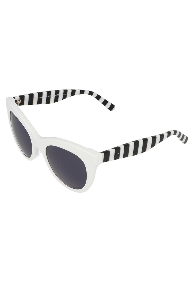 Ochelari de soare cat-eye cu detalii in dungi imagine fashiondays.ro Tommy Hilfiger