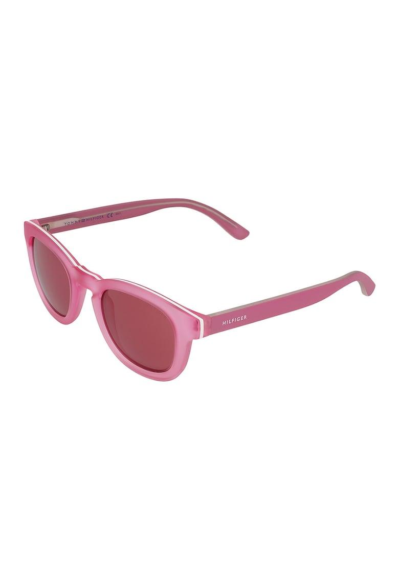 Ochelari de soare unisex cu lentile uni imagine fashiondays.ro Tommy Hilfiger