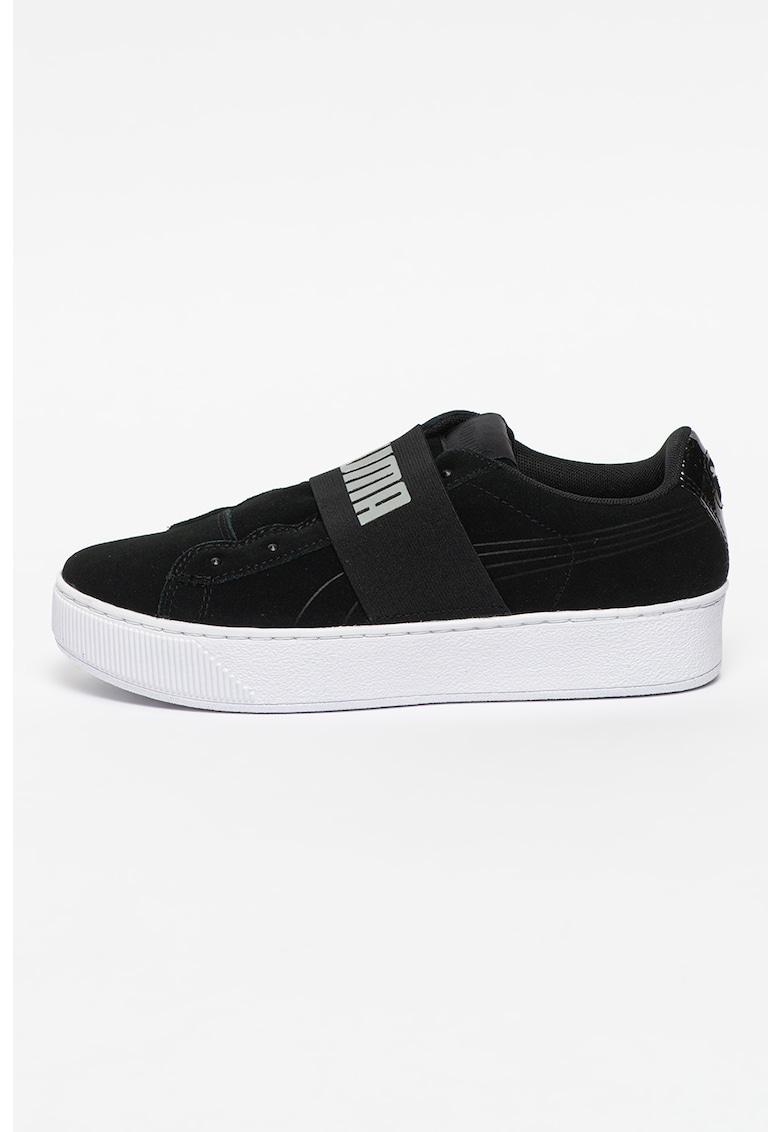 Pantofi sport flatform de piele intoarsa Vikky