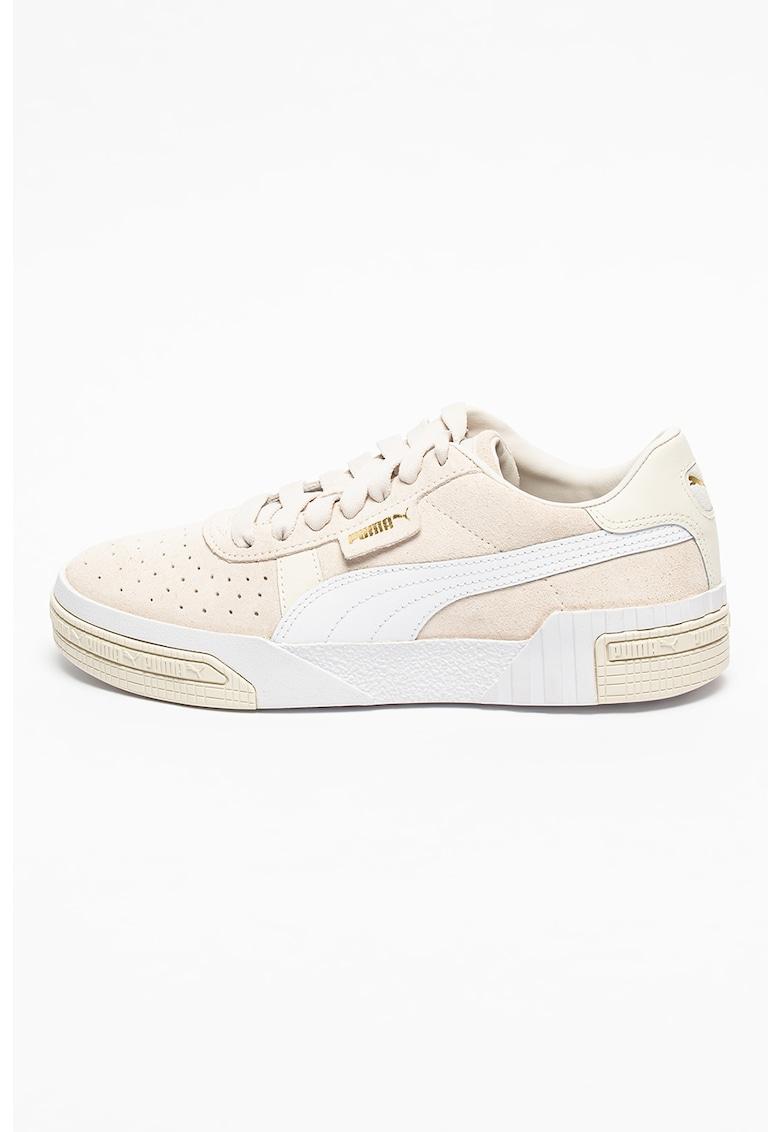 Pantofi sport de piele intoarsa cu perforatii decorative Cali Taped