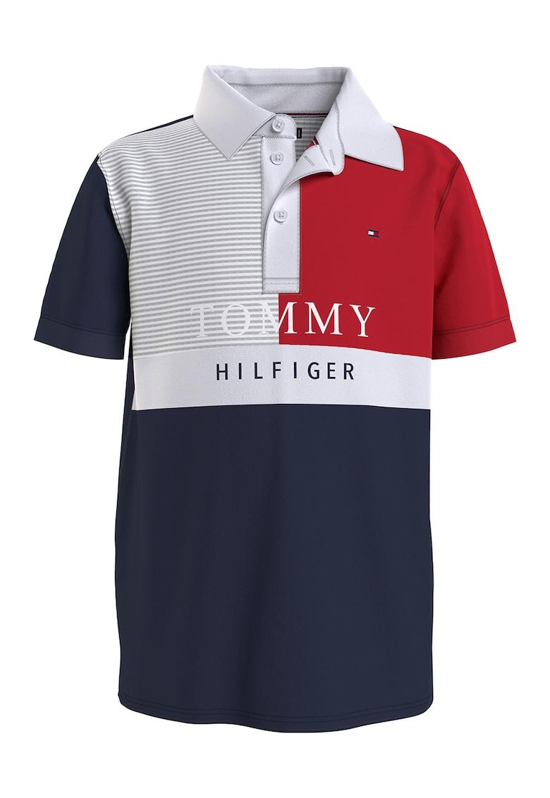 Tricou polo din bumbac organic imagine fashiondays.ro Tommy Hilfiger