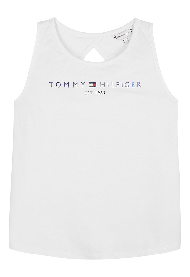 Top din amestec de bumbac organic cu logo imagine fashiondays.ro Tommy Hilfiger