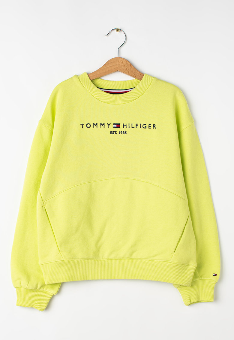 Bluza sport din bumbac organic Essential imagine fashiondays.ro Tommy Hilfiger