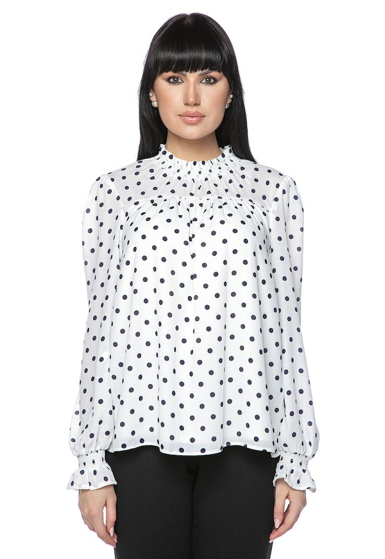 Bluza lejera cu imprimeu cu buline